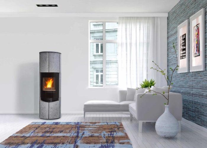 poêle a bois- poêle en pierre-cheminée Philippe- appareil de chauffage- accumulation de chaleur-fabrication française